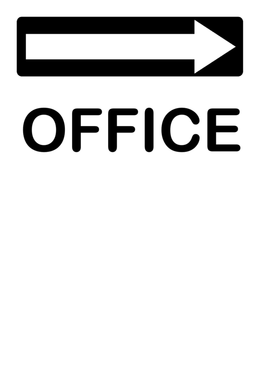 Office Right Sign Template Printable pdf