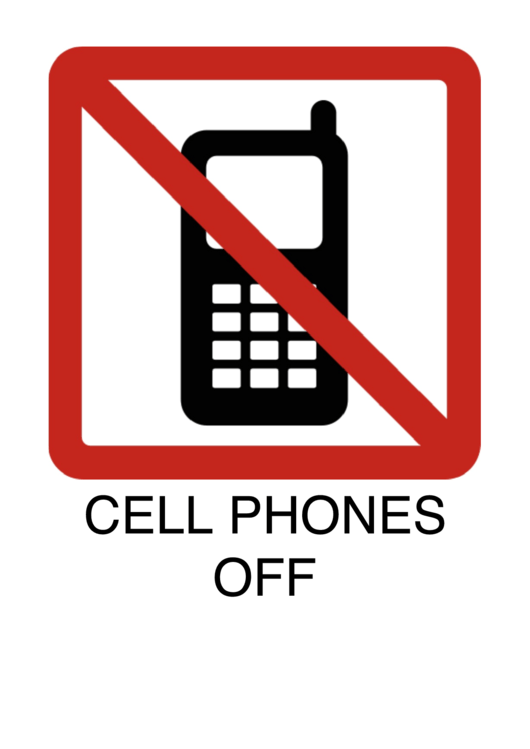 Cell Phones Off Printable pdf