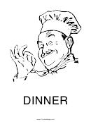 Dinner Sign Template