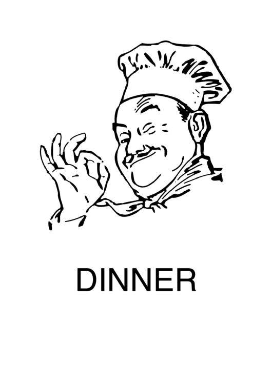 Dinner Sign Template Printable pdf