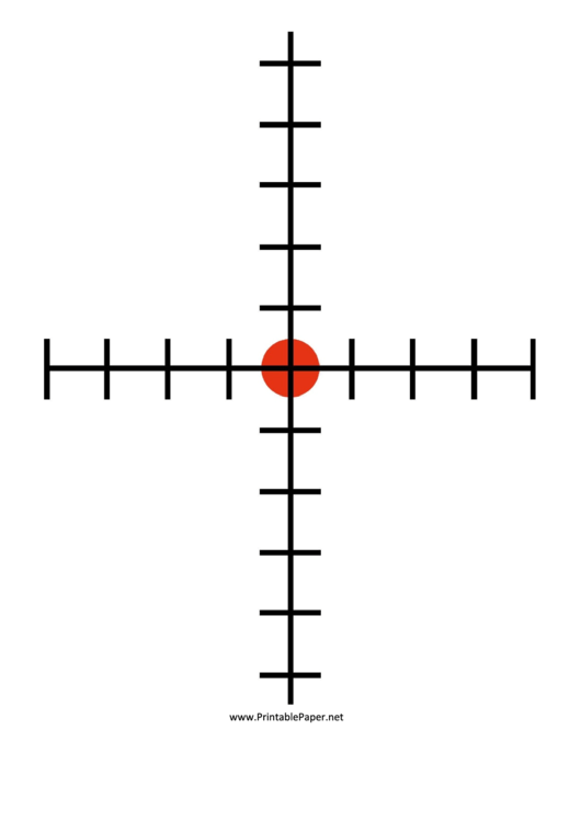 Target Crosshairs Template