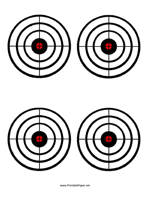 Black Circles Target Templates