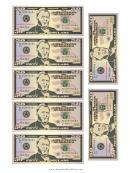 Mini-fifty Dollar Bill Templates