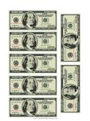 Mini-hundred Dollar Bill Templates