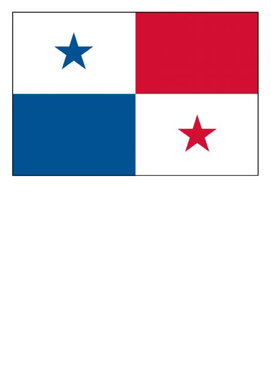 panama flag template printable pdf download
