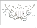 United States Virgin Islands Flag Template