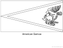 American Samoa Flag Template