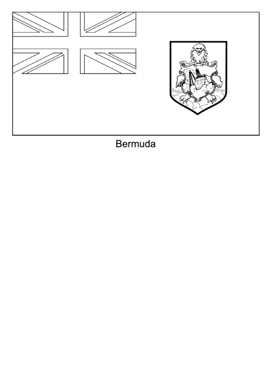 Bermuda flag template printable pdf download for Bermuda flag coloring page