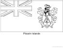 Pitcairn Islands Flag Template