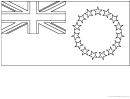 Cook Islands Flag Template