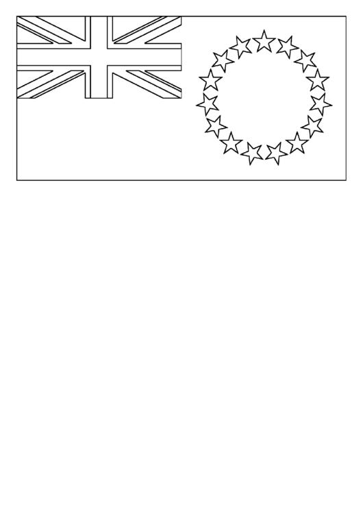 Cook Islands Flag Template Printable pdf