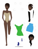 Fashion Paper Doll With Headpiece