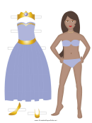 Princess Paper Doll Lavender