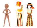 Egyptian Queen Paper Doll