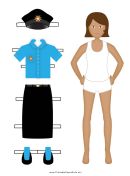 Policewoman Paper Doll