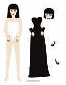 Halloween Bride Paper Doll