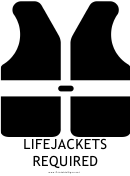 Lifejackets Required With Caption Sign