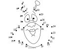 Funny Superhero Face Dot-to-dot Sheet