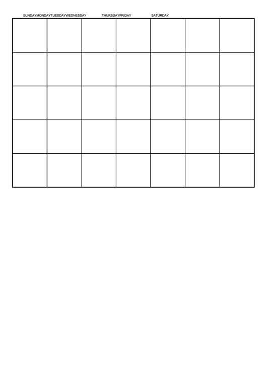 One Month By Day Calendar Template