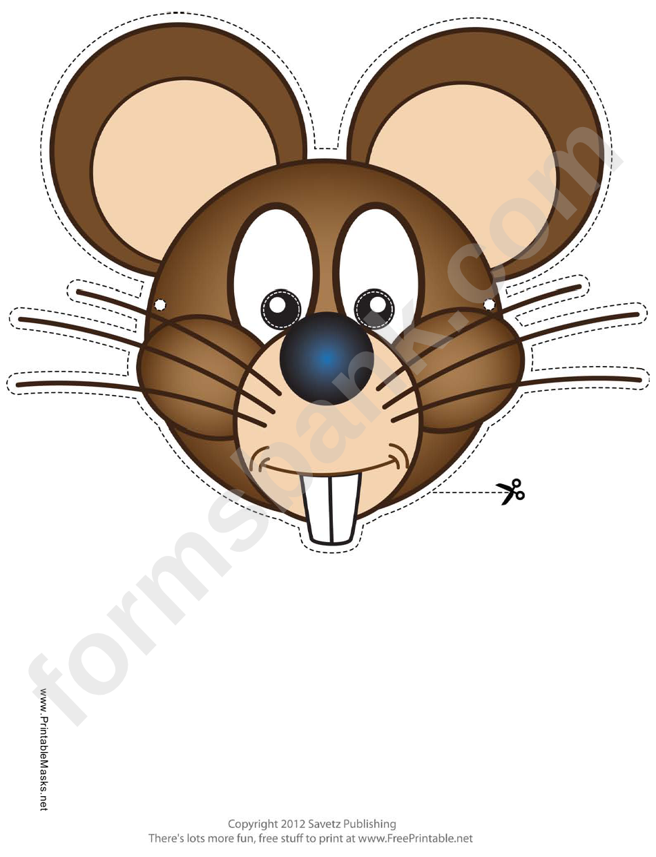 Mouse Mask Template Printable Pdf Download