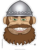 Viking Male Mask Template