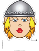 Viking Female Mask Template