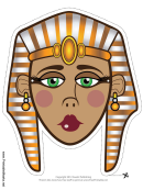 Egyptian Queen Mask Template