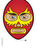 Wrestler Elaborate Mask Template