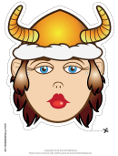Viking Horns Female Mask Template