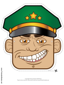 Military Officer Male Mask Template