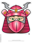 Samurai Female Mask Template