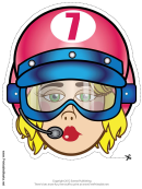 Racecar Driver Goggles Female Mask Template