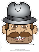Detective Male Mask Template