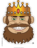 King Grin Mask Template