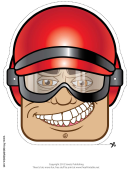 Biker Male Mask Template