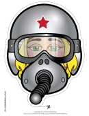 Fighter Pilot Female Mask Template