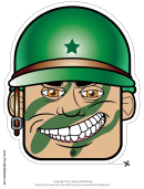 Soldier Male Mask Template