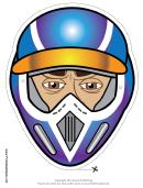Motocross Male Mask Template