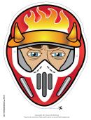 Motocross Male Horns Mask Template