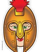 Greek Warrior Female Mask Template