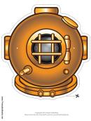 Bronze Diving Mask Template