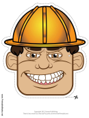 Construction Worker Male Mask Template