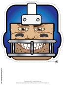 Football Mask Template