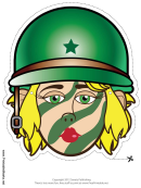 Soldier Female Mask Template