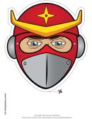 Ninja Star Mask Template