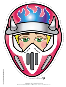 Motocross Female Horns Mask Template