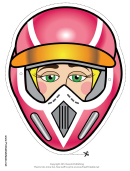 Motocross Female Mask Template