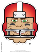 Football Player Mask Template