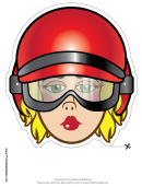 Biker Female Mask Template