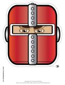 Knight Mask Template